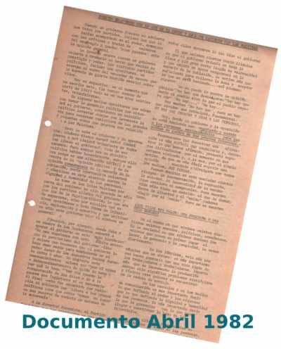 Documentos sobre malvinas escrito en 1982