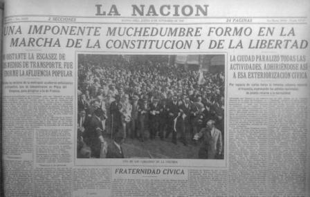 La Nación, 20 de septiembre de 1945
