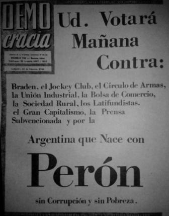 Democracia, 23 de febrero de 1946